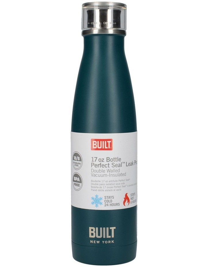 Perfect Seal Leak Proof Double Wall Vacuum Insulated Bottle 480ML Teal image 1