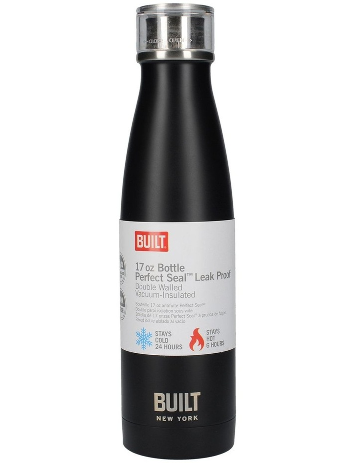 Perfect Seal Leak Proof Double Wall Vacuum Insulated Bottle 480ML Black image 1
