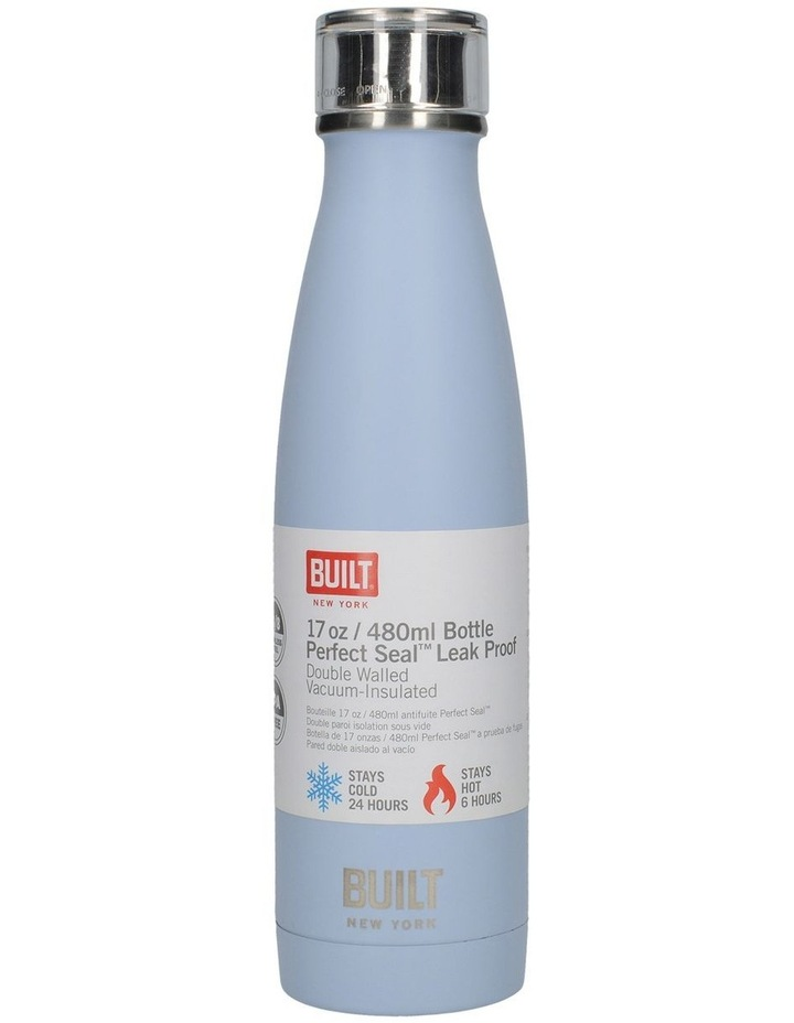 Perfect Seal Leak Proof Double Wall Vacuum Insulated Bottle 480ML Blue image 1