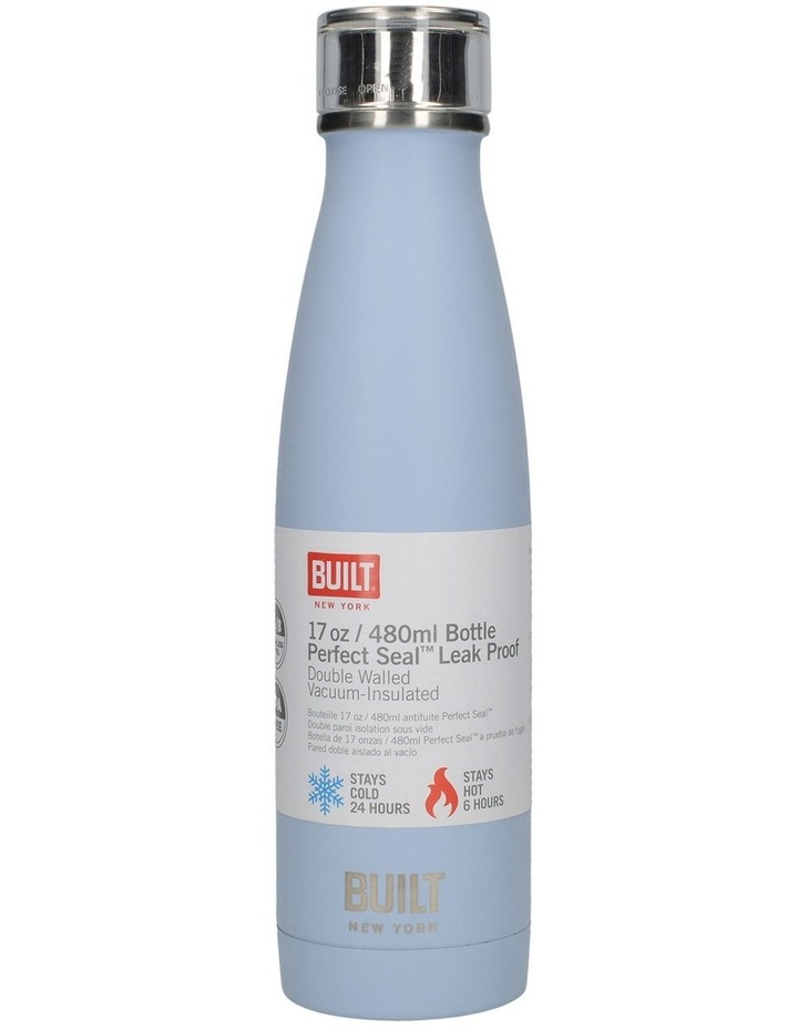 Perfect Seal Leak Proof Double Wall Vacuum Insulated Bottle 480ML Blue image 2