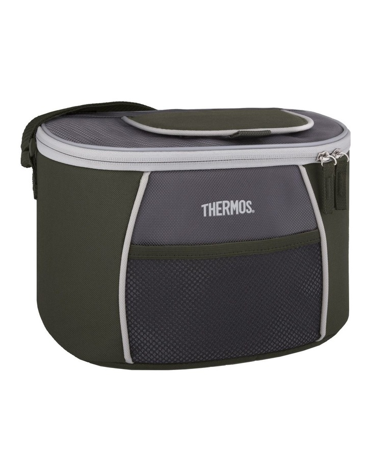 Thermos 6 Can Soft Cooler - Green/Grey image 1