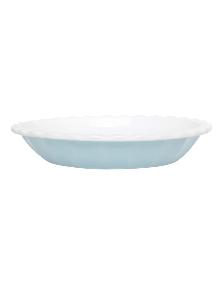 Ribbed Pie Dish - Blue image 1