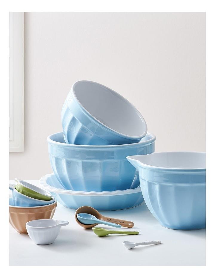 Heritage Ribbed Medium Mixing Bowl - Blue image 3