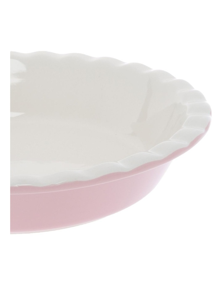 Ribbed Rose Pie Dish image 2