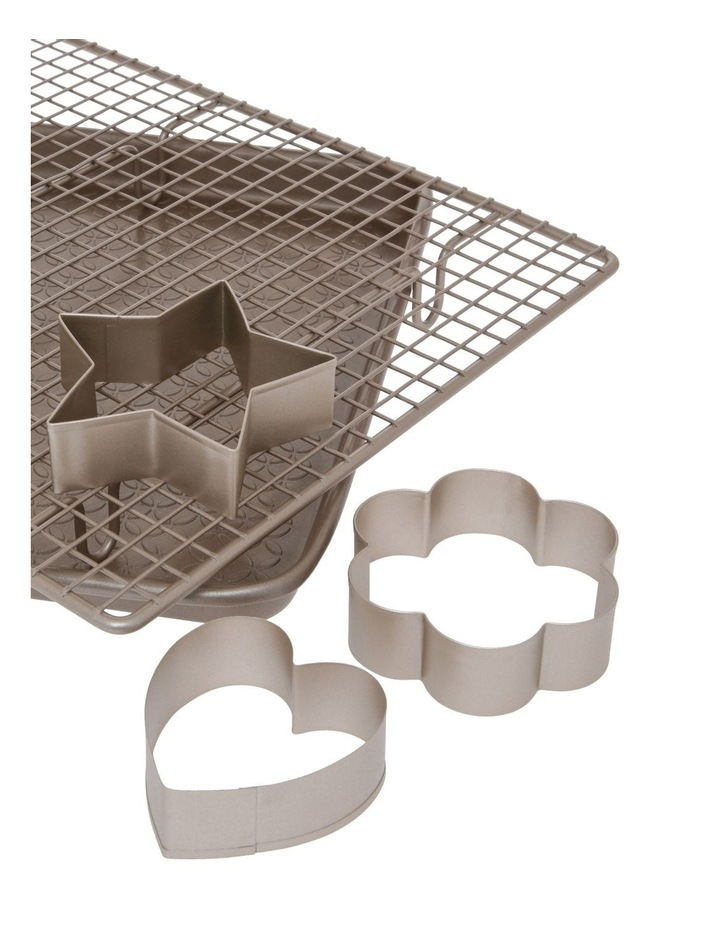 Luxe Baking Bundle - Cookie Sheet, Cooling Rack, Cooking Cutters image 2