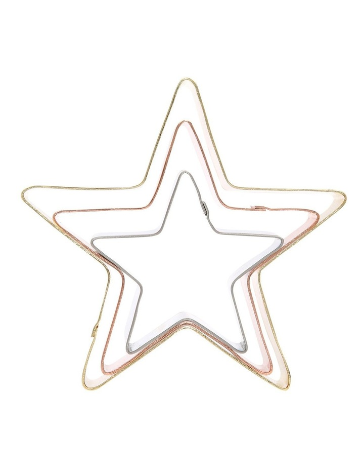 Set of 3 Christmas Cookie Cutter Star image 1