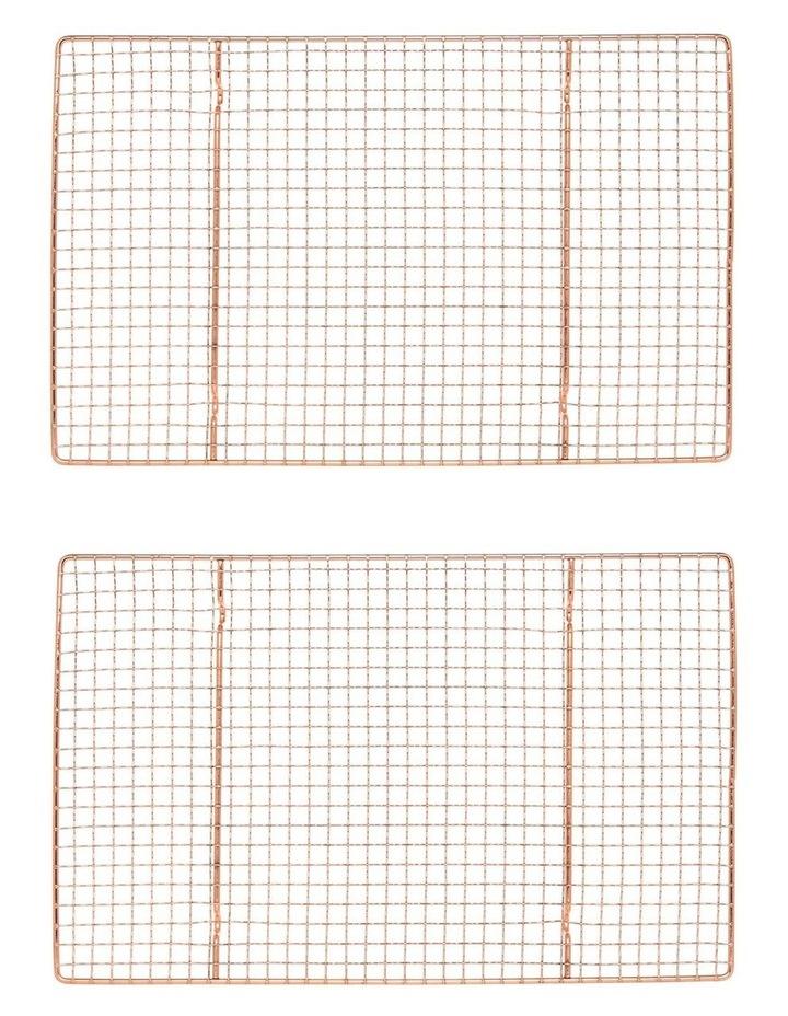 Christmas Rectangular Copper Cooling Rack - Set of 2 image 1