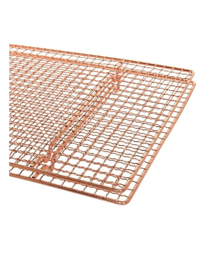Christmas Rectangular Copper Cooling Rack - Set of 2 image 2