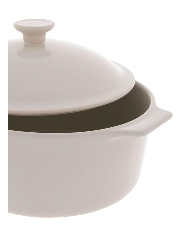 Esperance Cream Casserole Dish with Lid image 2
