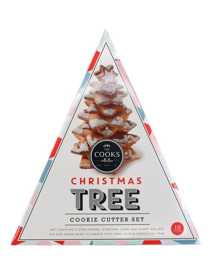 10 Pce Set Christmas Tree Cookie Cutter Set - Triangle Gift Box image 1