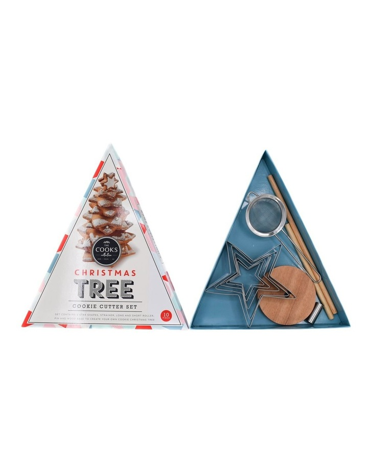 10 Pce Set Christmas Tree Cookie Cutter Set - Triangle Gift Box image 2