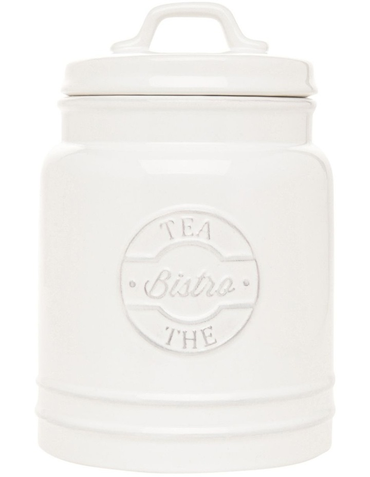Heritage provincial ceramic tea canister with embossing image 1