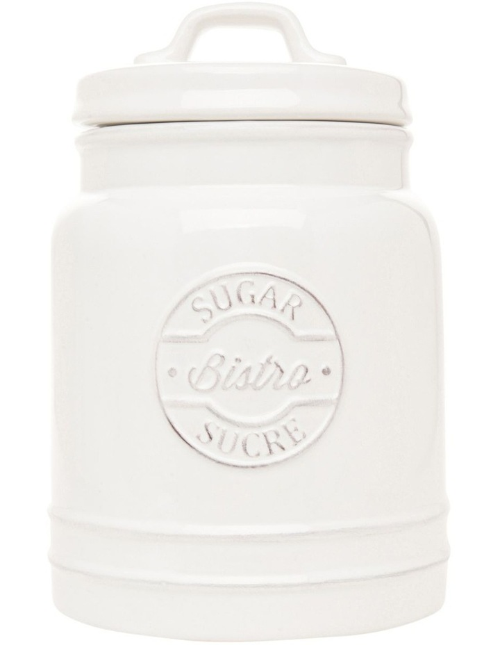 Provincial ceramic sugar canister with embossing image 1