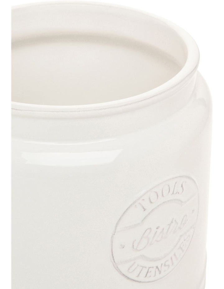 Provincial ceramic utensil jar with embossing image 2