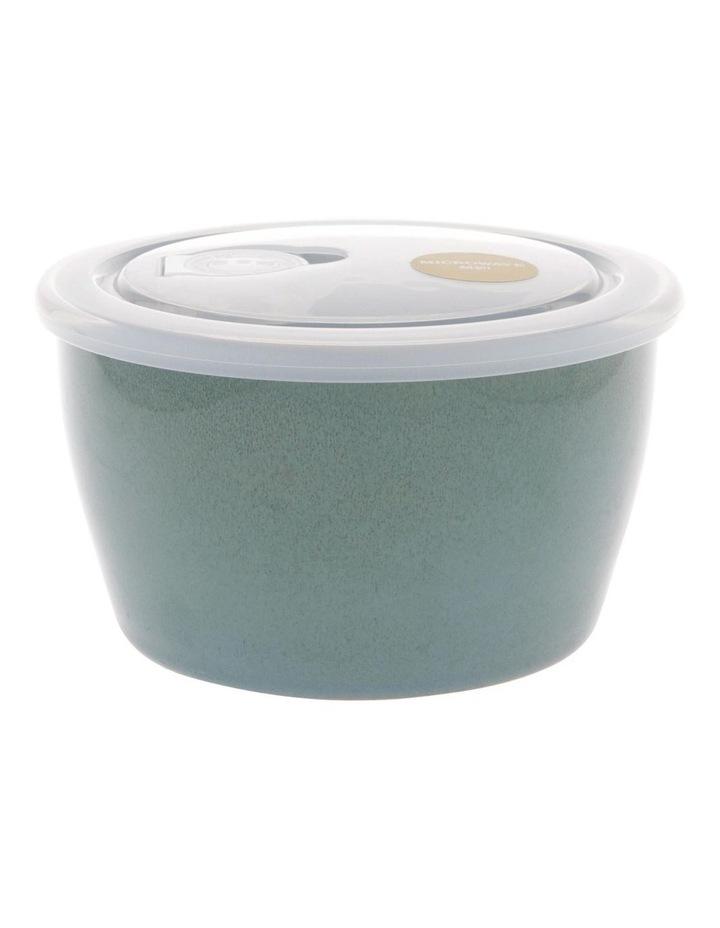 Reactive Glaze Microwave Bowl in Blue image 1