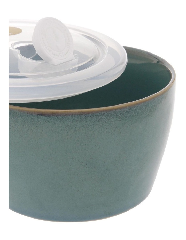 Reactive Glaze Microwave Bowl in Blue image 2