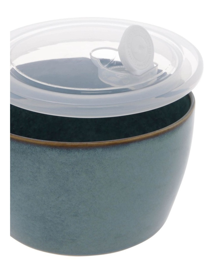 Reactive Glaze Microwave Bowl in Blue image 3