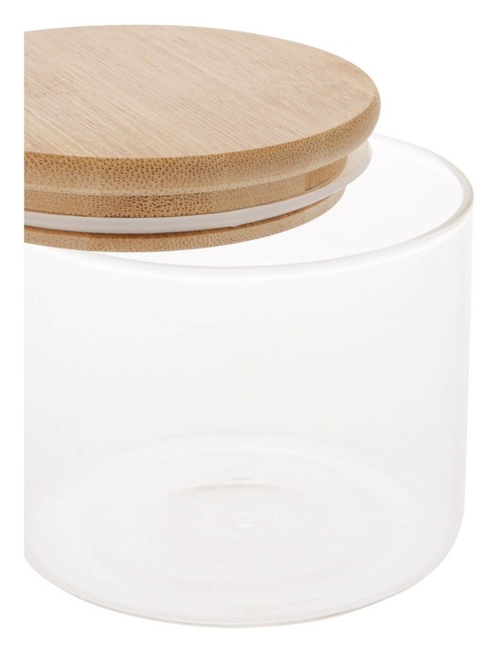 Bamboo and Glass 460ml Storage Canister with Lid image 3