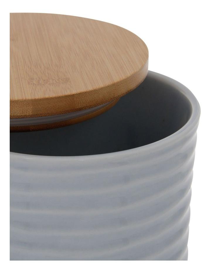 Medium Ripple Storage Jar with Reactive Glaze in Light Blue image 2