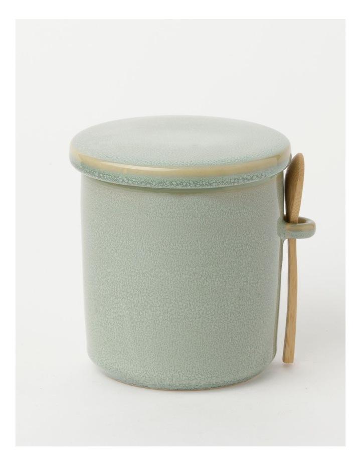 Esperance Med Storage Jar with Spoon Eucalyptus Reactive 13cm image 1