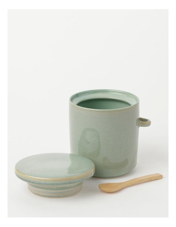 Esperance Med Storage Jar with Spoon Eucalyptus Reactive 13cm image 2
