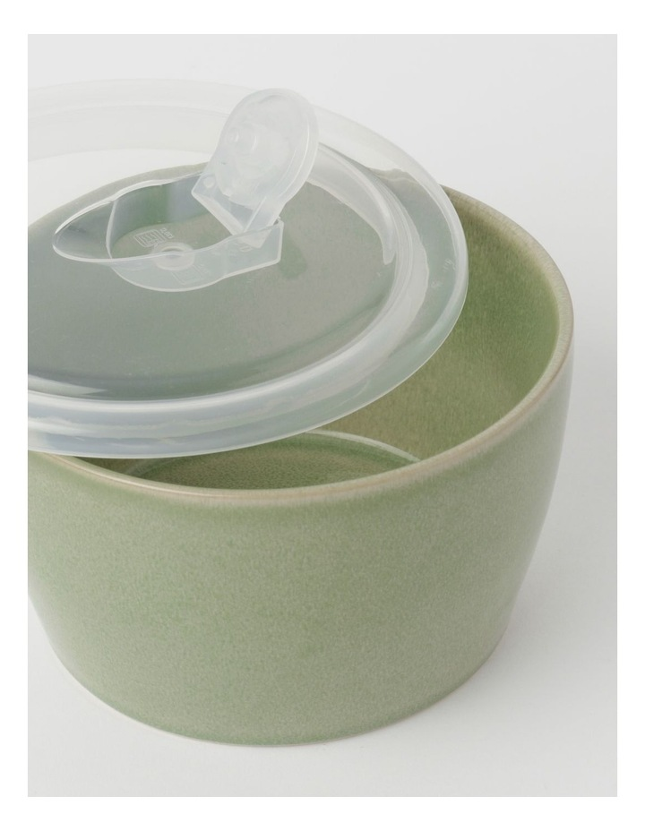 Reactive Glaze Microwave Bowl Green 8.5cm image 2