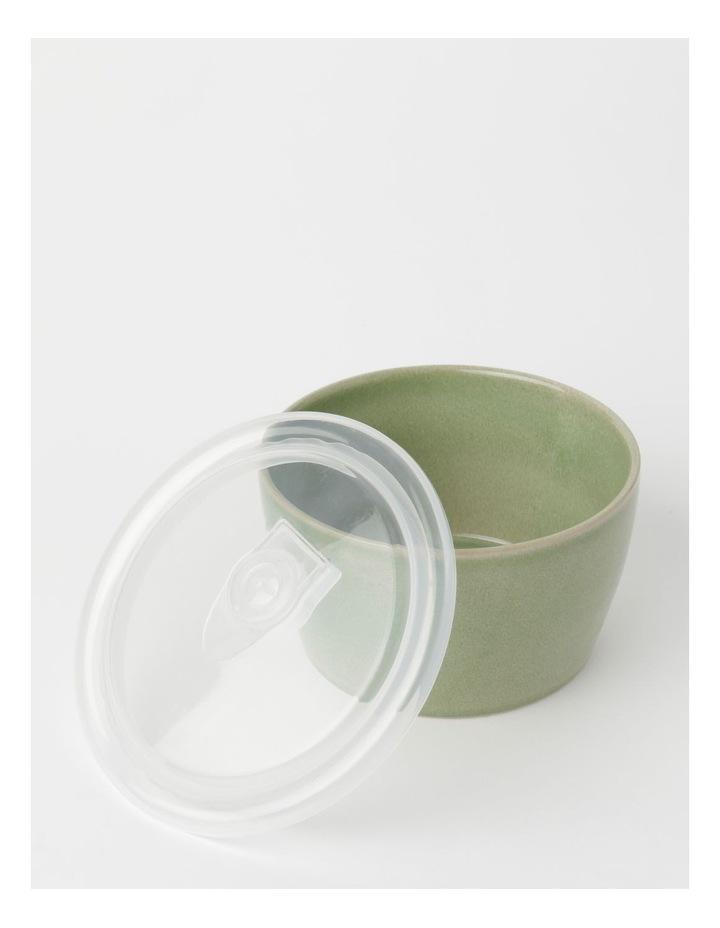 Reactive Glaze Microwave Bowl Green 8.5cm image 3