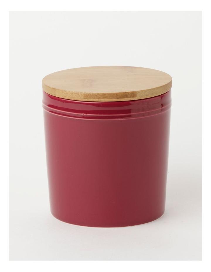 Avenue Large Storage Jar Crimson image 1