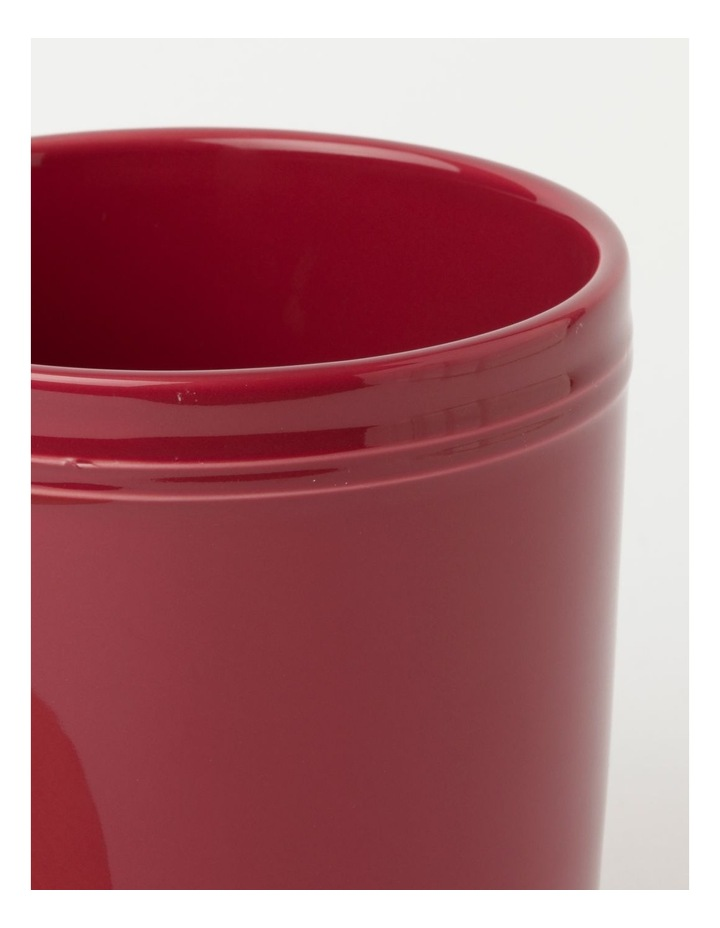 Avenue Large Storage Jar Crimson image 3