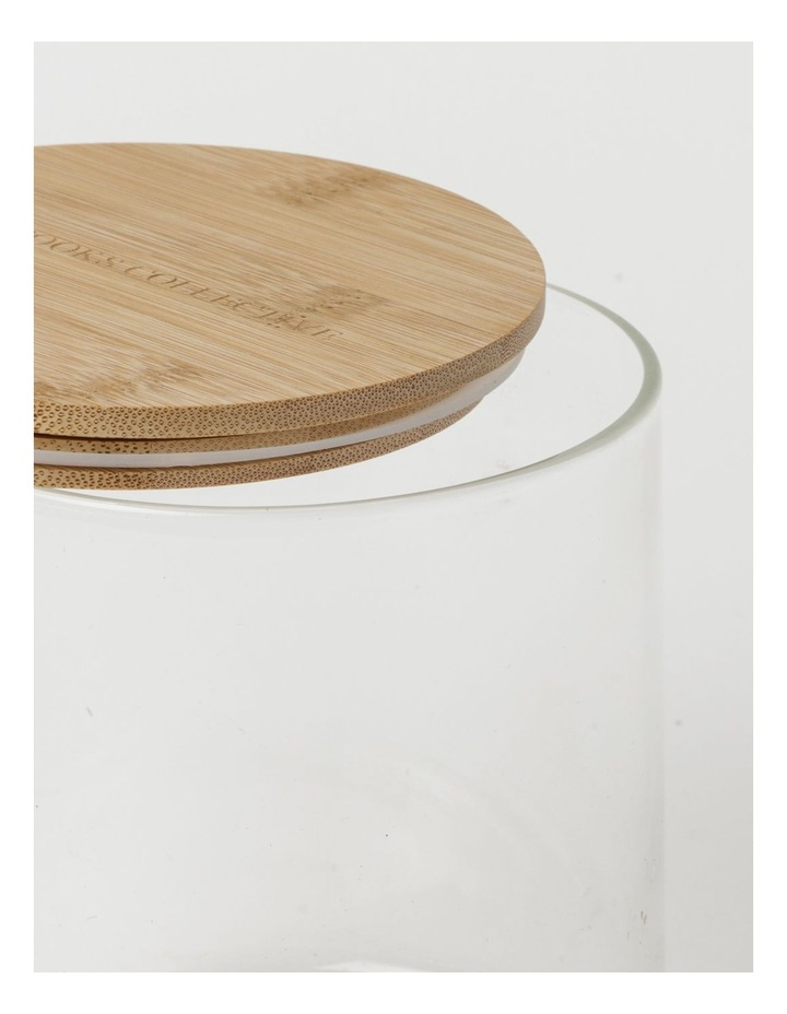 Round Bamboo and Glass Storage Canister with Lid 1 Litre image 3