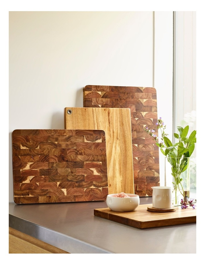 40x30x2.5cm Acacia Long Grain Cutting Board image 2