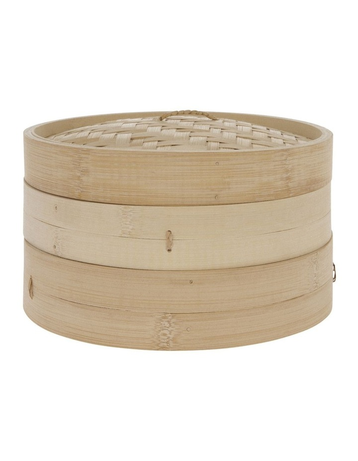 2-Tier Bamboo Steamer image 1