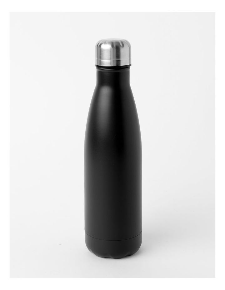 Stainless Steel Drink Bottle 500mL Black image 1
