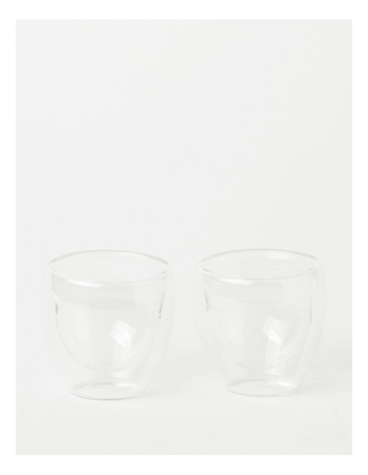 Double Wall Glass Espresso 80ml Set of 2 image 1
