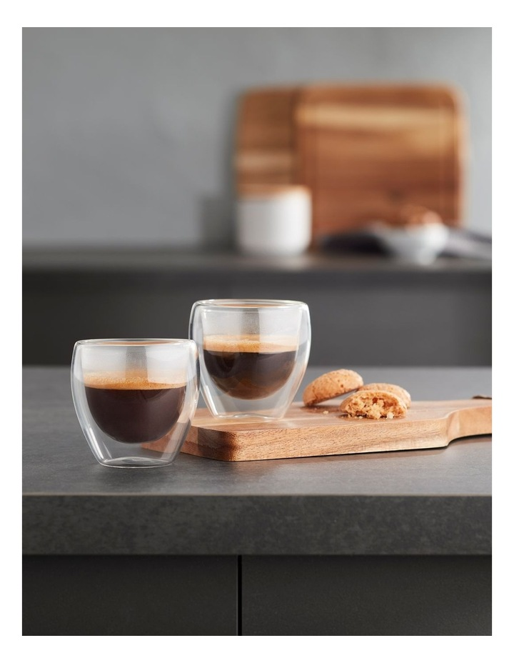 Double Wall Glass Espresso 80ml Set of 2 image 2