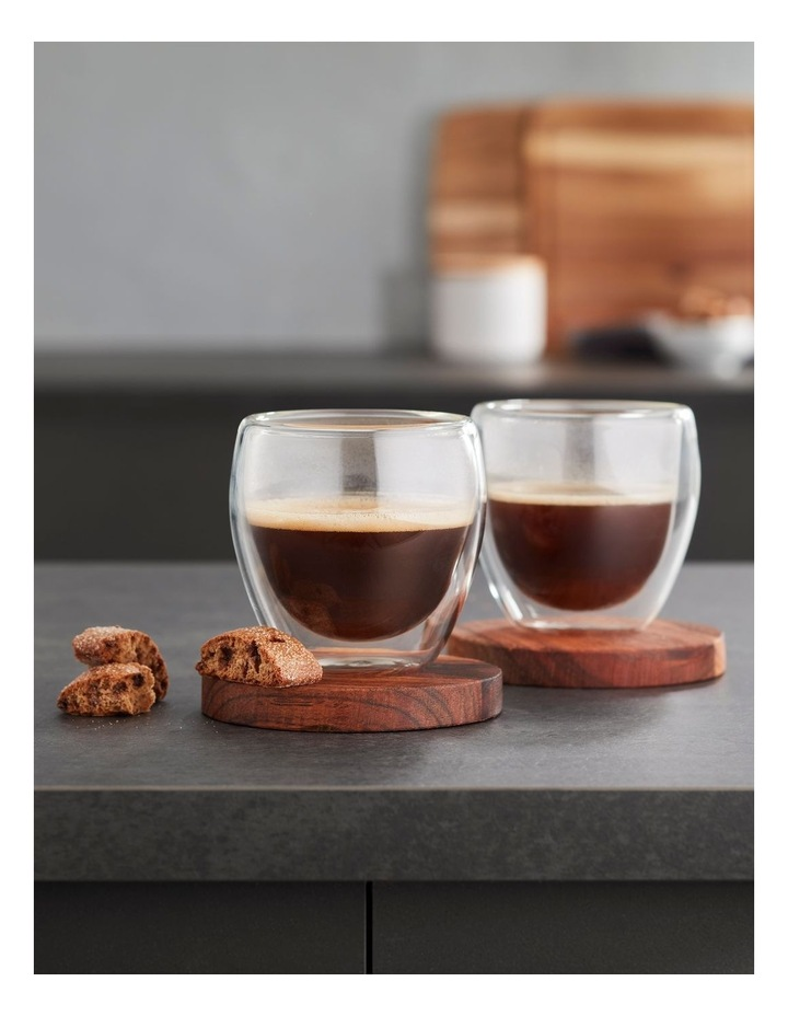Double Wall Glass Espresso 250ml Set of 2 image 2