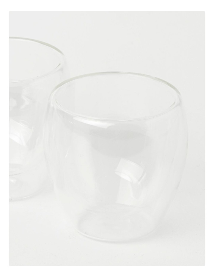 Double Wall Glass Espresso 250ml Set of 2 image 3