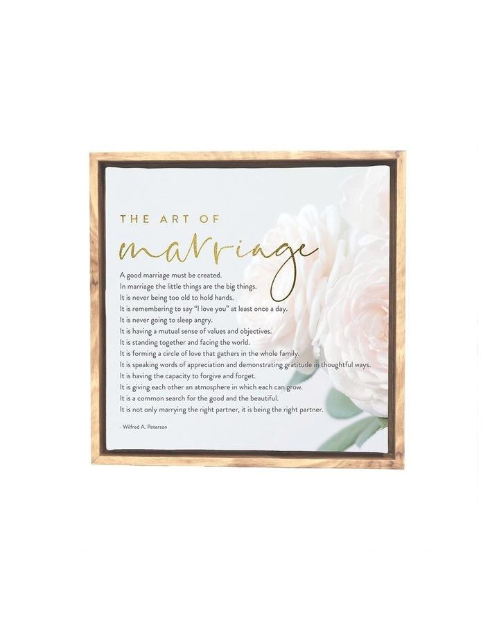 Wedding Marriage Framed Canvas 34x34 image 1