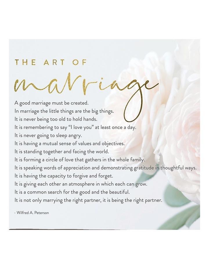 Wedding Marriage Framed Canvas 34x34 image 2