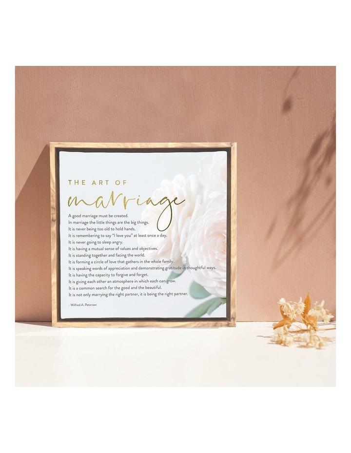 Wedding Marriage Framed Canvas 34x34 image 4