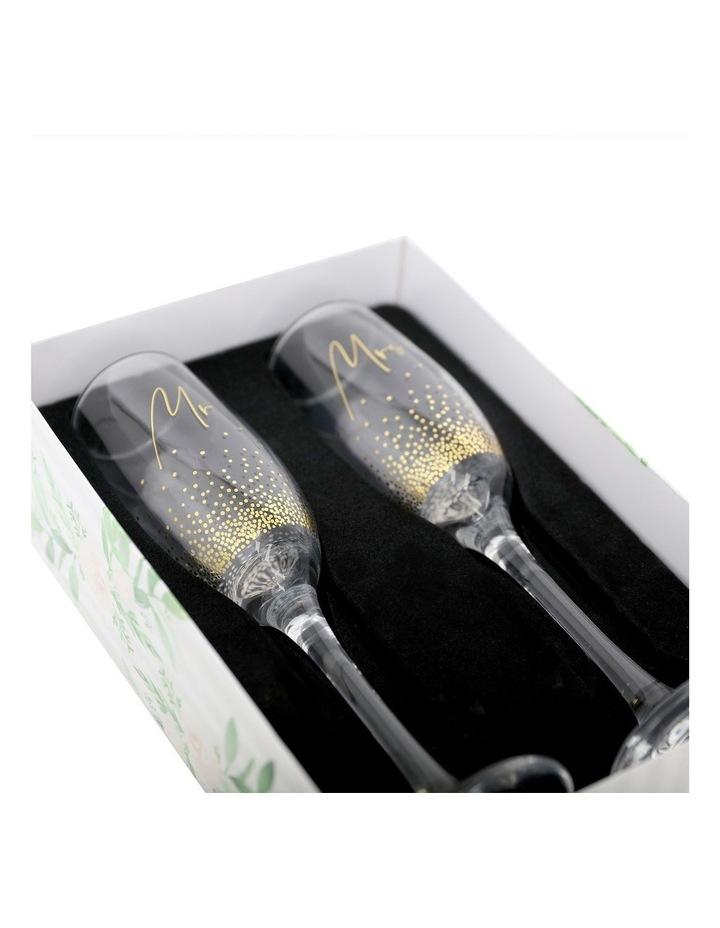 Wedding Mrs & Mrs Champagne Flute Set image 3