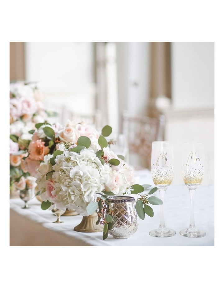Wedding Mrs & Mrs Champagne Flute Set image 4