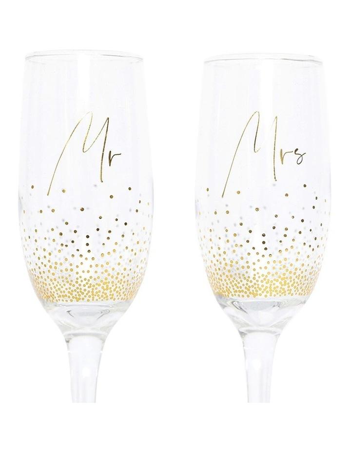 Wedding Mrs & Mrs Champagne Flute Set image 5