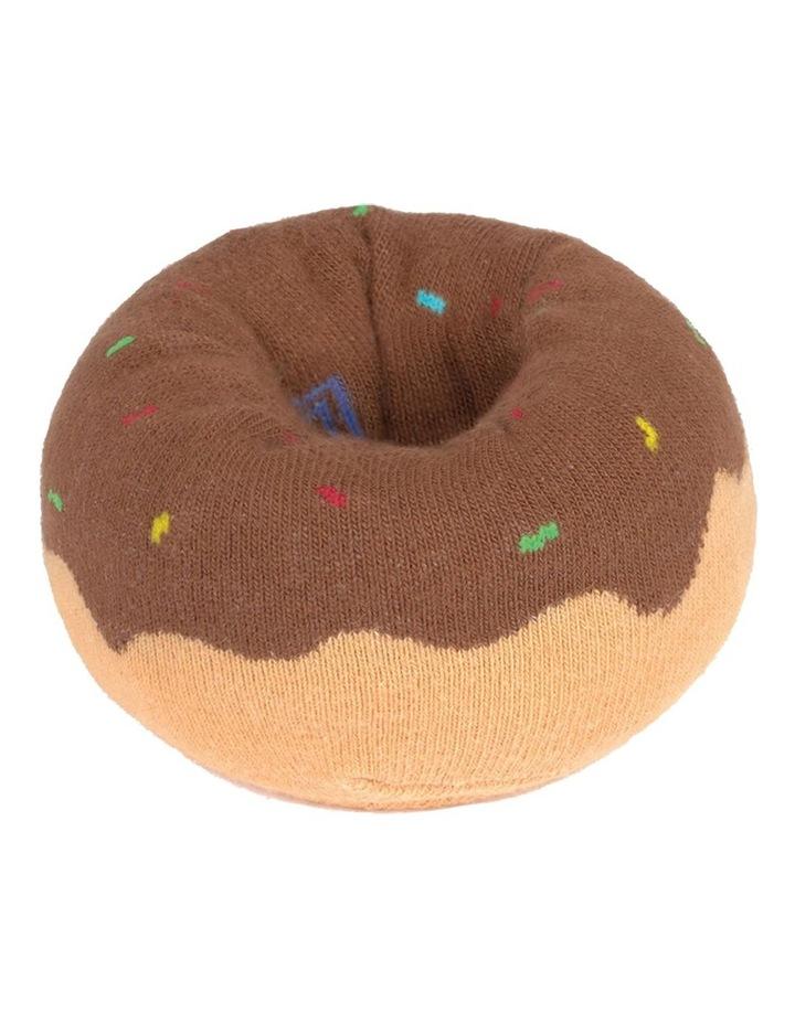 Socks Doughnut Brown image 3