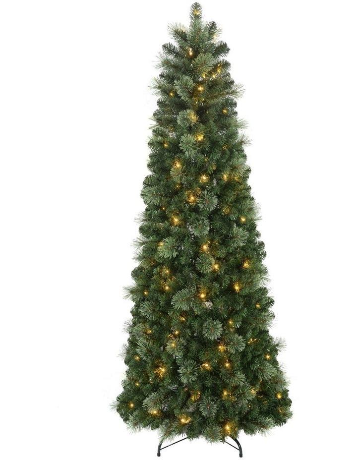 Aurora Pre-Lit Pop-Up Christmas Tree 210cm image 1