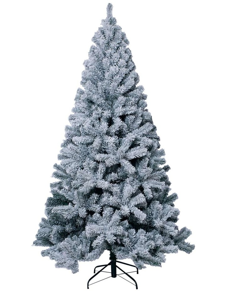 Flocked Arrow Pine Christmas Tree 210cm image 1