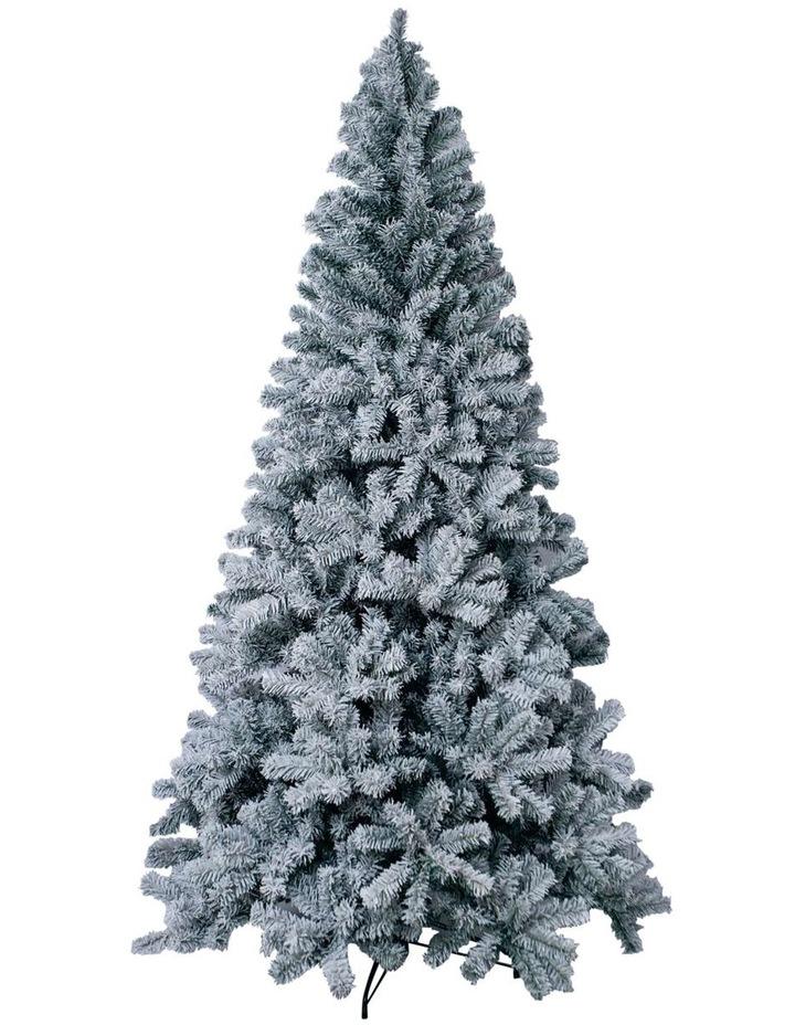 Flocked Arrow Pine Christmas Tree 240cm image 1