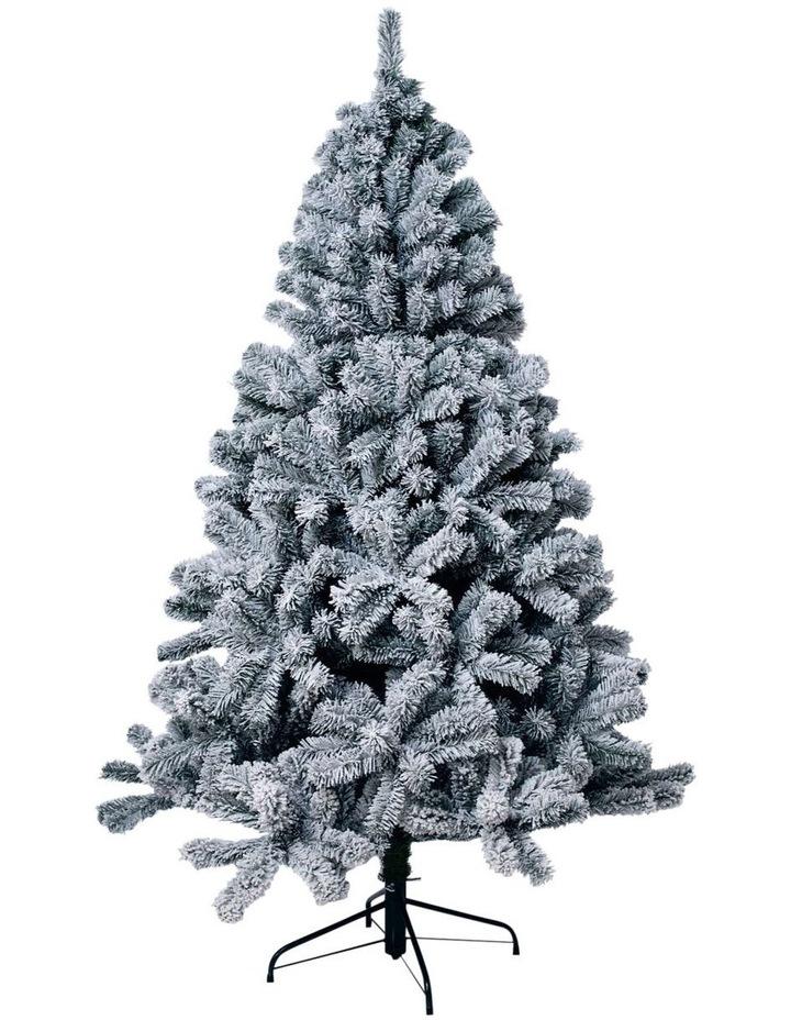 Flocked Arrow Pine Christmas Tree 180cm image 1