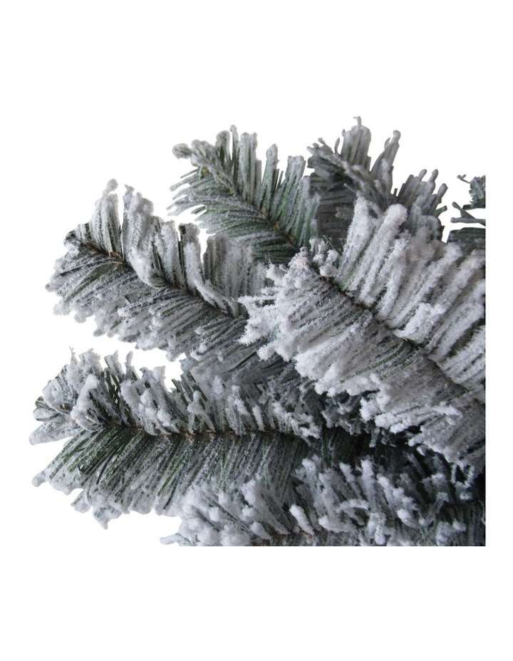 Arrow Pine Flocked 1480 tips Hinged Christmas Tree  Green/White: 270cm image 2