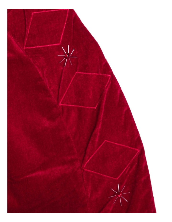 Heirloom Velvet Tree Skirt with Quilted Edge & Sequined Snowflakes image 2